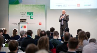 Eröffnung Serious Games Conference Geschäftsführer nordmedia Thomas Schäffer