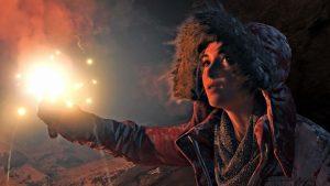 """Lara Croft im PC- und Konsolen-Spiel """"Rise of the Tomb Raider"""""""